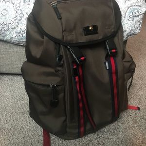 084e74d054ad7c Gucci Bags | Techno Canvas Backpack Military Green | Poshmark